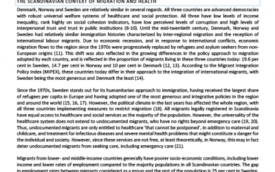 Situational Brief on Skandinavia – EN