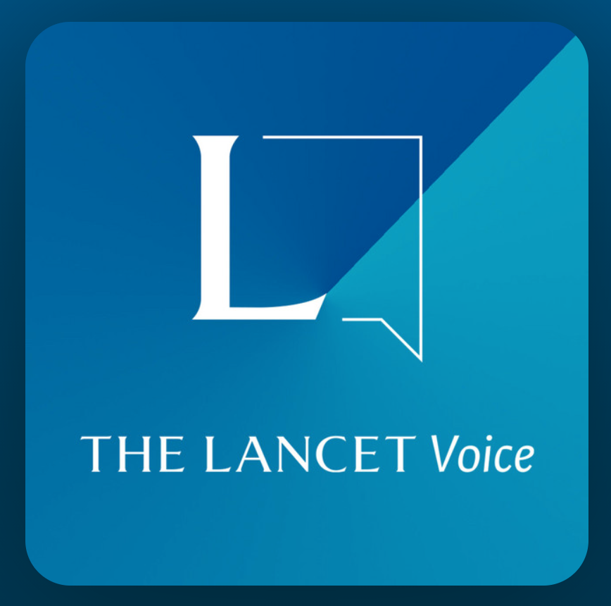 Ident graphic for The Lancet Voice podcast